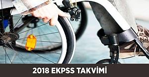 2018 EKPSS Tercih - Kura - Sınav Takvimi