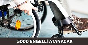 Bu Yıl 5000 Engelli Atanacak