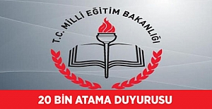 20 Bin Sözleşmeli Öğretmen Atama Duyurusu