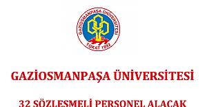 Gaziosmanpaşa Üniversitesi 32 Sözleşmeli Personel Alacak