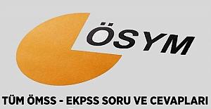 ÖMSS - EKPSS Çıkmış Sorular (2012 - 2014 - 2016)
