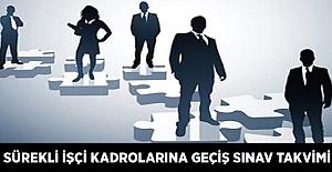 Sürekli İşçi Kadrolarına Geçiş Sınav Takvimi (ÖSYM Başkanlığı)