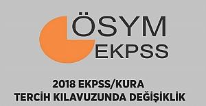 2018 EKPSS/Kura Yerleştirme Tercih Kılavuzunda Değişiklik