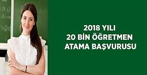 2018 Mart 20 Bin Sözleşmeli Öğretmenlik Başvurusu