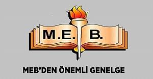 MEB'den 2018/8 Genelge