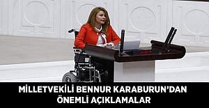 Milletvekili Bennur Karaburun'dan Önemli Açıklamalar