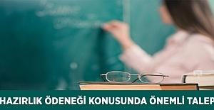 Öğretim Yılına Hazırlık Ödeneği Konusunda Önemli Talep