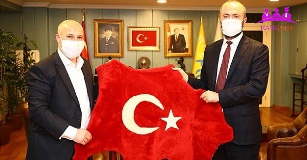 Güvenlik-İş PTT Genel Müdürü Gülten'i Ziyaret Etti