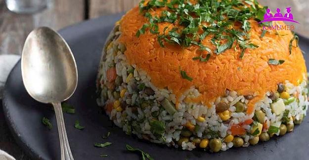 Yeşil Mercimekli Soğuk Pilav Salatası