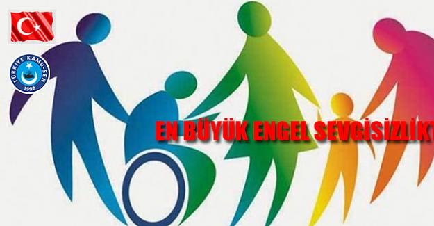Kahveci'den 3 Aralık Dünya Engelliler Günü Açıklaması