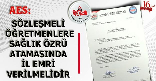 Sözleşmeli Öğretmenlere İl Emri Verilmesi (13 Eylül 2021)