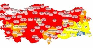 Koronavirüs Risk Haritası Kızardı Sarardı