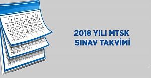 2018 Yılı MTSK Yazılı Sınav Takvimi (Sınav - Sonuç Tarihleri)