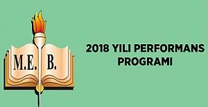 MEB 2018 Yılı Performans Programı