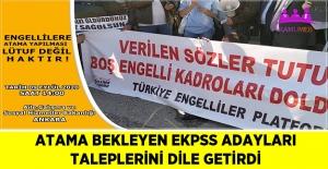 Atama Bekleyen EKPSS Adayları Taleplerini Dile Getirdi
